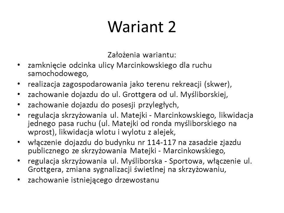 Wariant 2 Założenia wariantu: