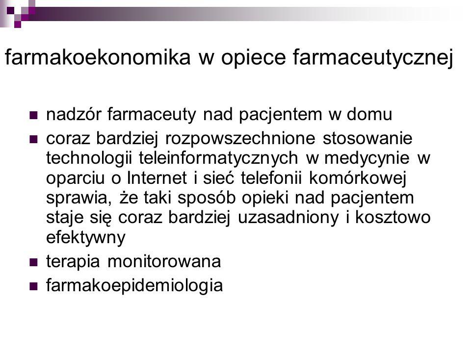 farmakoekonomika w opiece farmaceutycznej