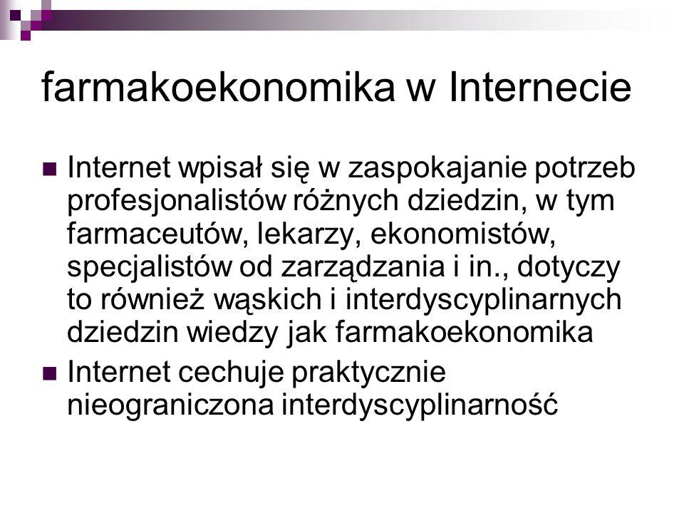 farmakoekonomika w Internecie