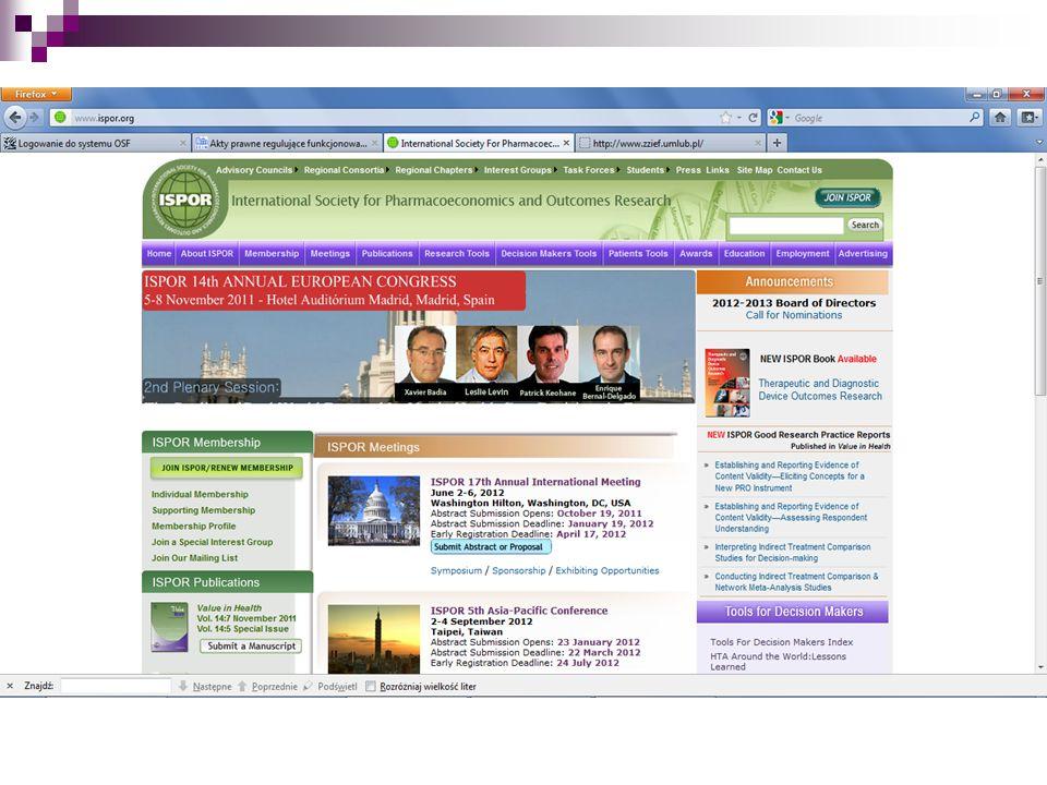 towarzystwa naukowe międzynarodowe - www. ispor