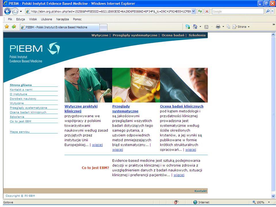 www.ebm.org.pl - Polski Instytut Evidence Based Medicine