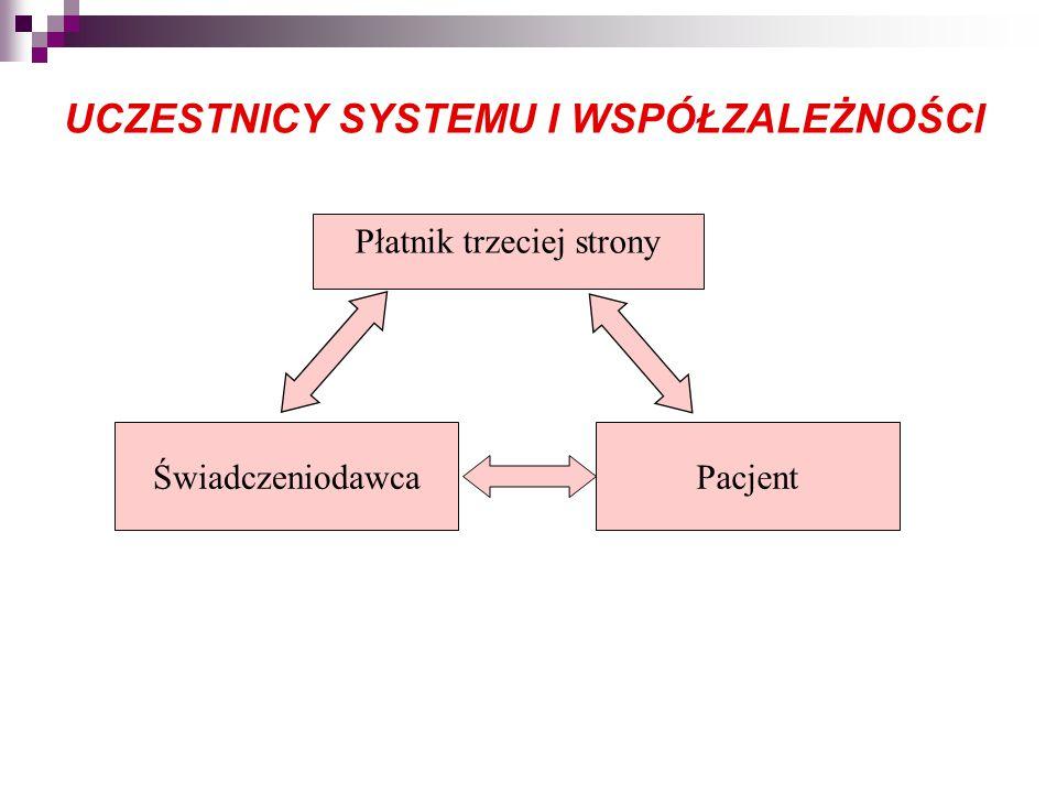 UCZESTNICY SYSTEMU I WSPÓŁZALEŻNOŚCI