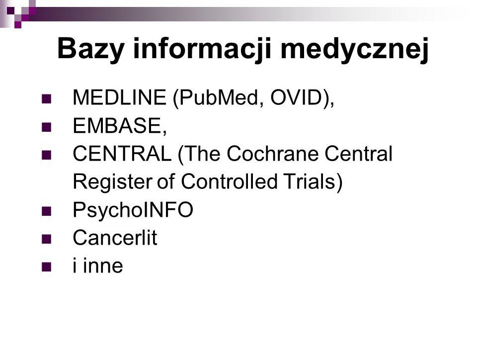 Bazy informacji medycznej