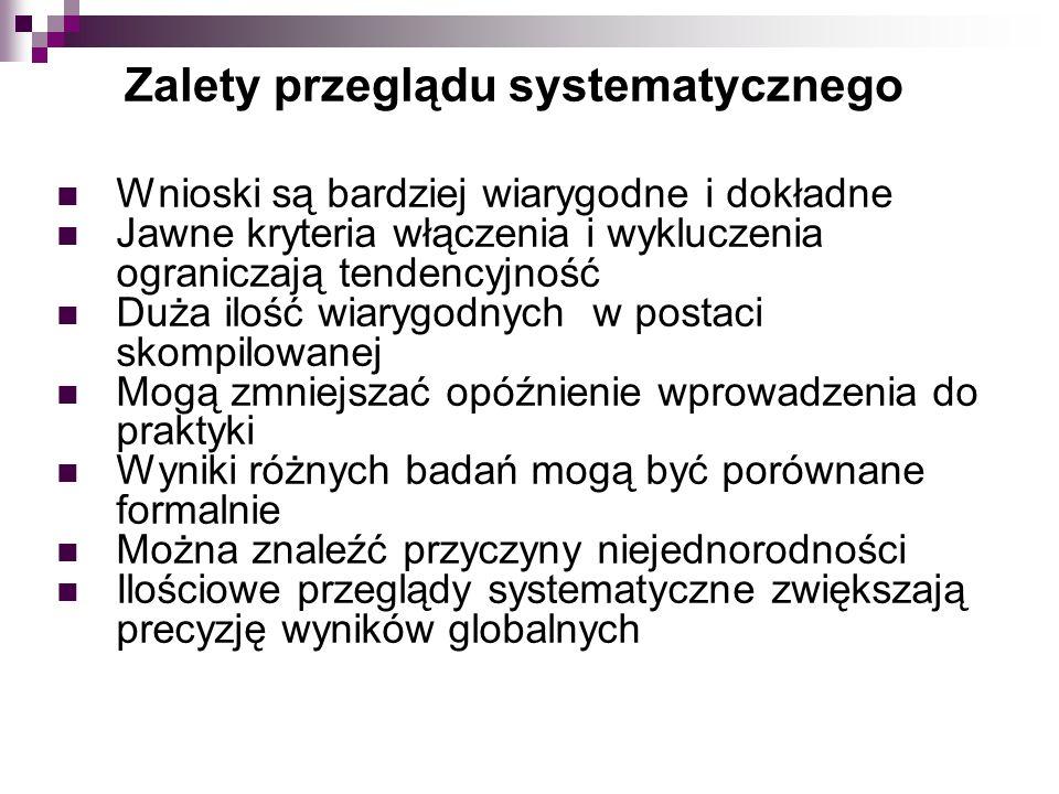 Zalety przeglądu systematycznego