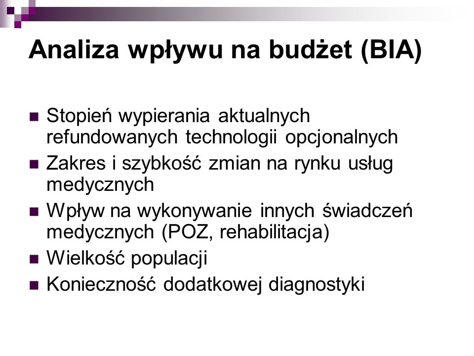 Analiza wpływu na budżet (BIA)