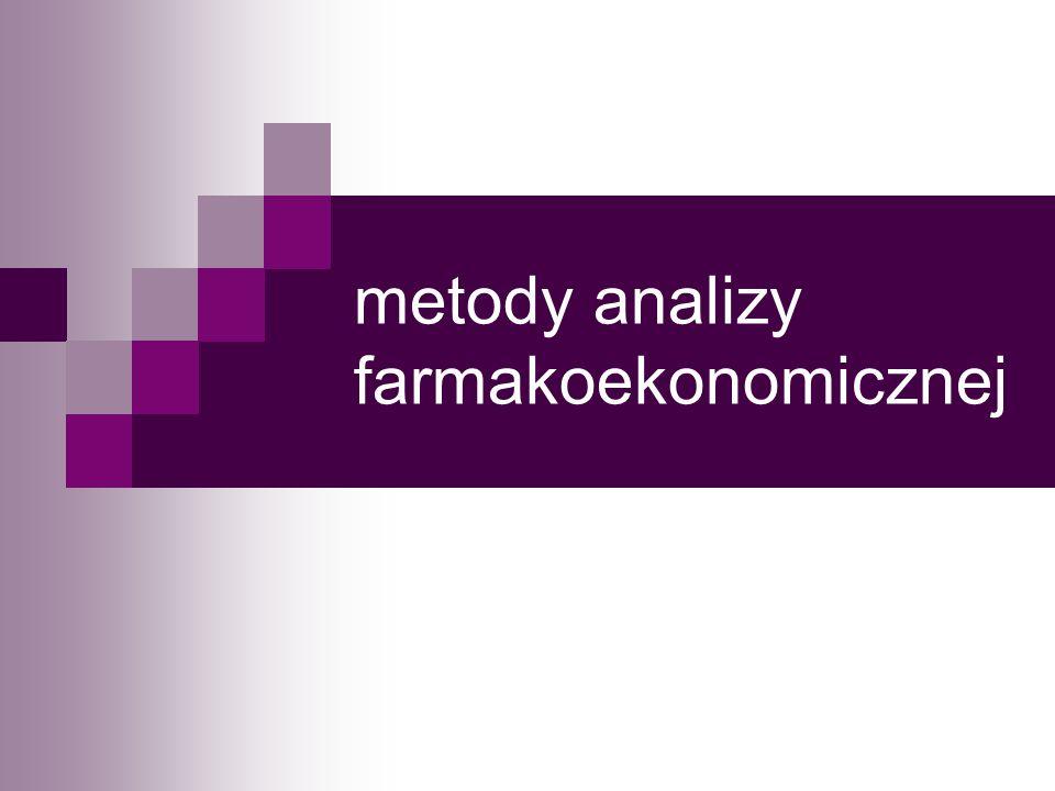 metody analizy farmakoekonomicznej