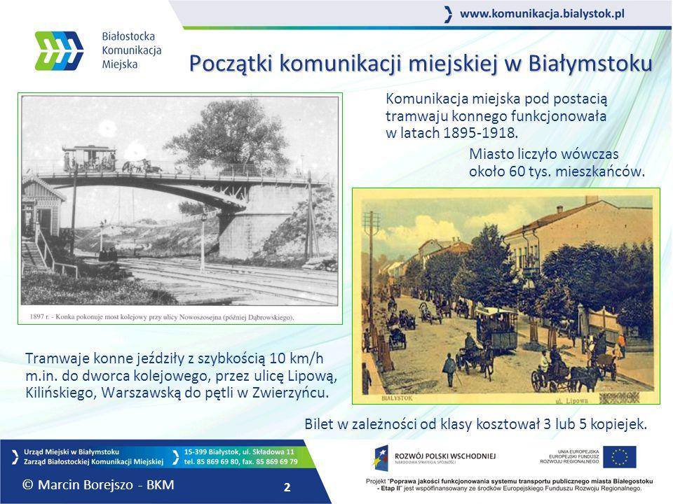 Początki komunikacji miejskiej w Białymstoku