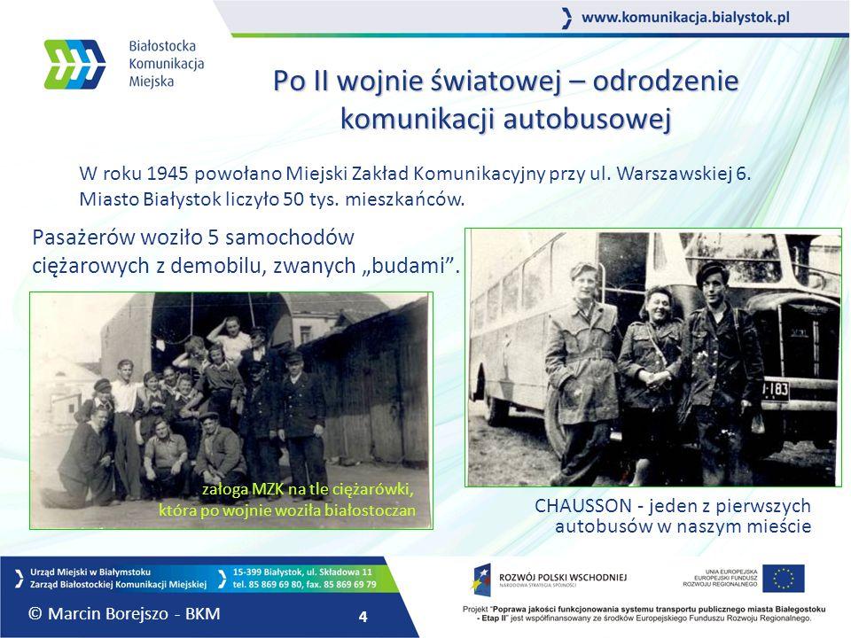 Po II wojnie światowej – odrodzenie komunikacji autobusowej