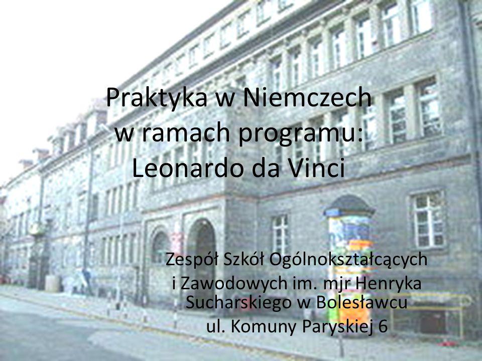Praktyka w Niemczech w ramach programu: Leonardo da Vinci
