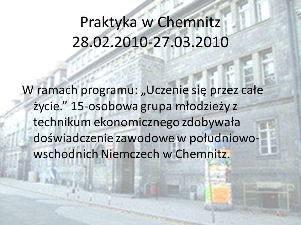 Praktyka w Chemnitz 28.02.2010-27.03.2010