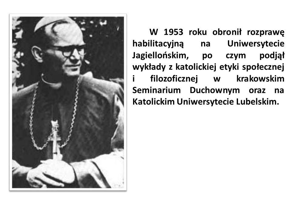 W 1953 roku obronił rozprawę habilitacyjną na Uniwersytecie Jagiellońskim, po czym podjął wykłady z katolickiej etyki społecznej i filozoficznej w krakowskim Seminarium Duchownym oraz na Katolickim Uniwersytecie Lubelskim.