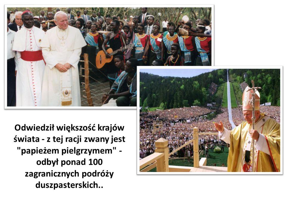 Odwiedził większość krajów świata - z tej racji zwany jest papieżem pielgrzymem - odbył ponad 100 zagranicznych podróży duszpasterskich..