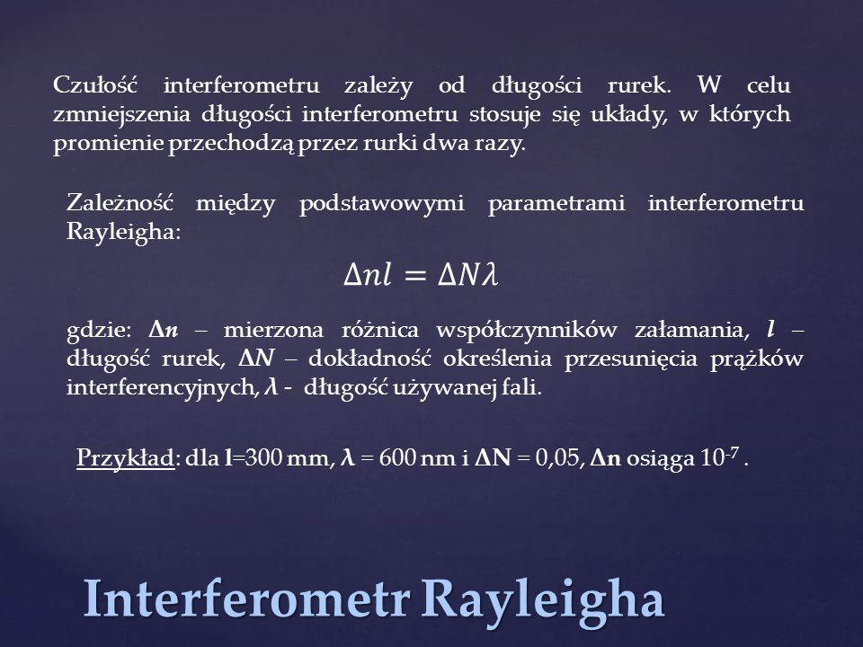 Interferometr Rayleigha