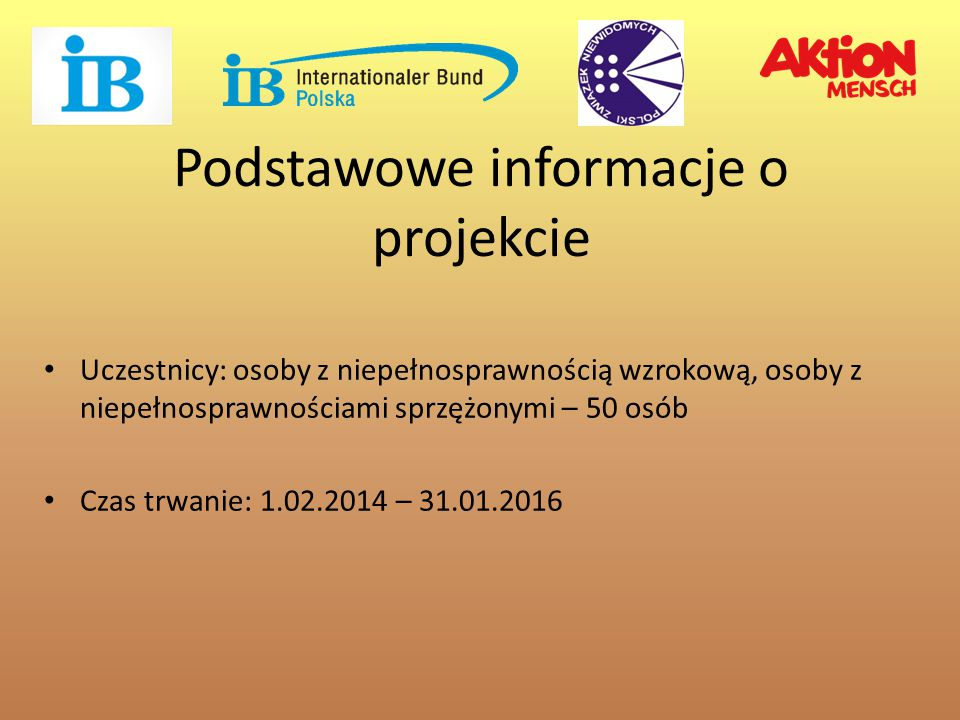 Podstawowe informacje o projekcie