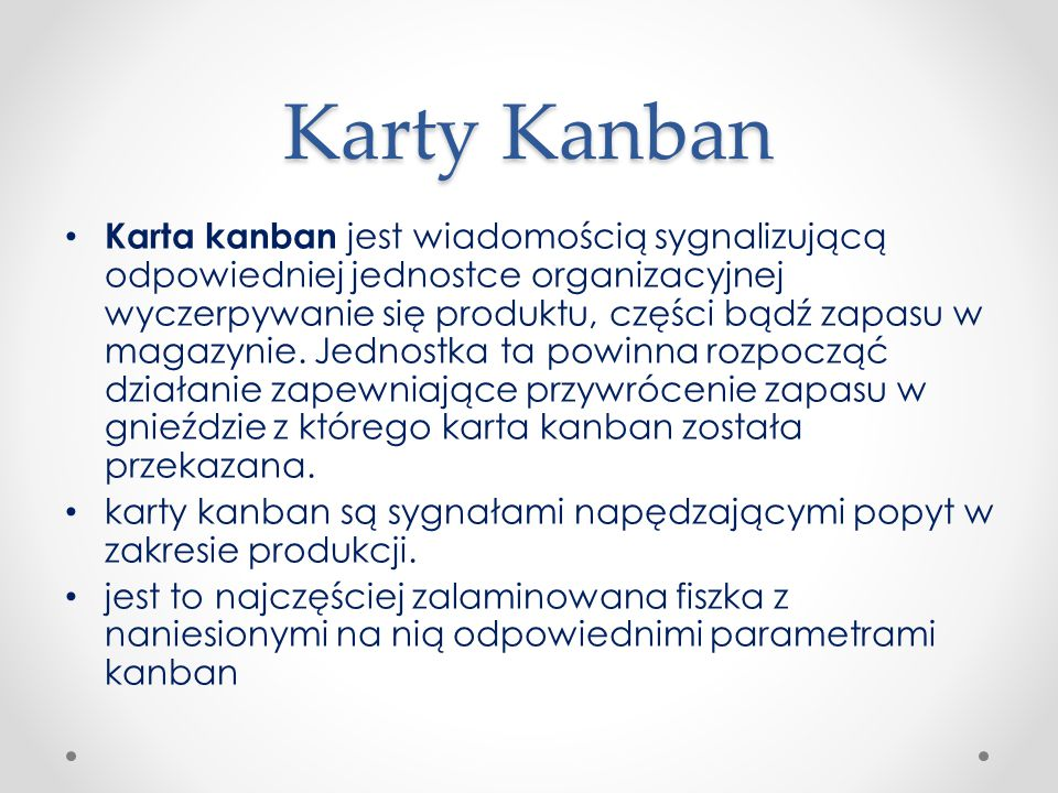 Karty Kanban