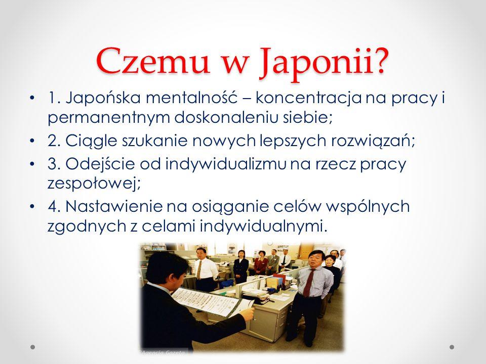 Czemu w Japonii 1. Japońska mentalność – koncentracja na pracy i permanentnym doskonaleniu siebie;