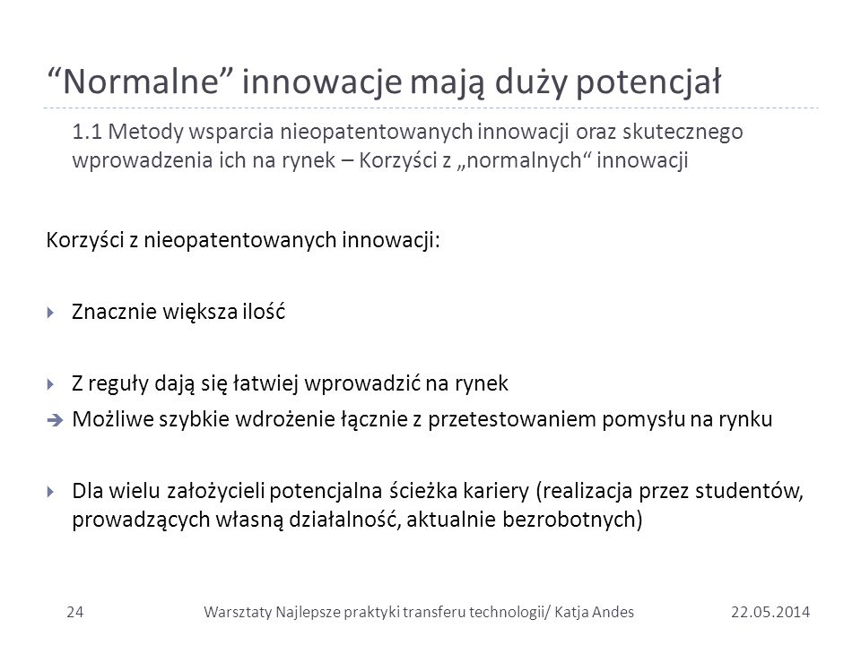 Normalne innowacje mają duży potencjał