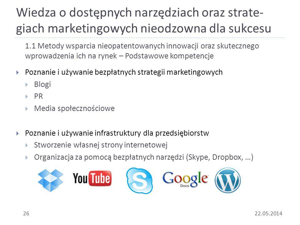 Wiedza o dostępnych narzędziach oraz strate-giach marketingowych nieodzowna dla sukcesu