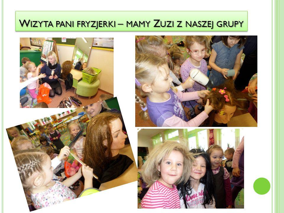 Wizyta pani fryzjerki – mamy Zuzi z naszej grupy