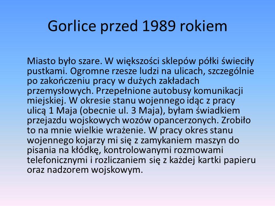 Gorlice przed 1989 rokiem