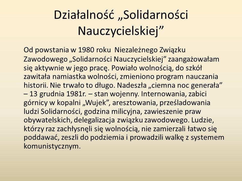 """Działalność """"Solidarności Nauczycielskiej"""