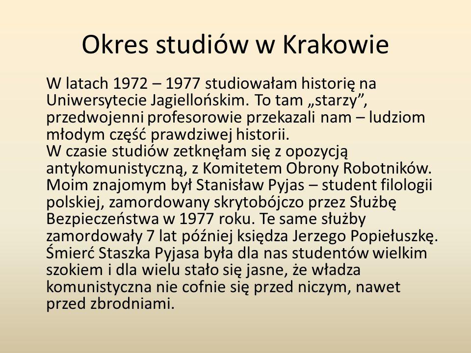 Okres studiów w Krakowie