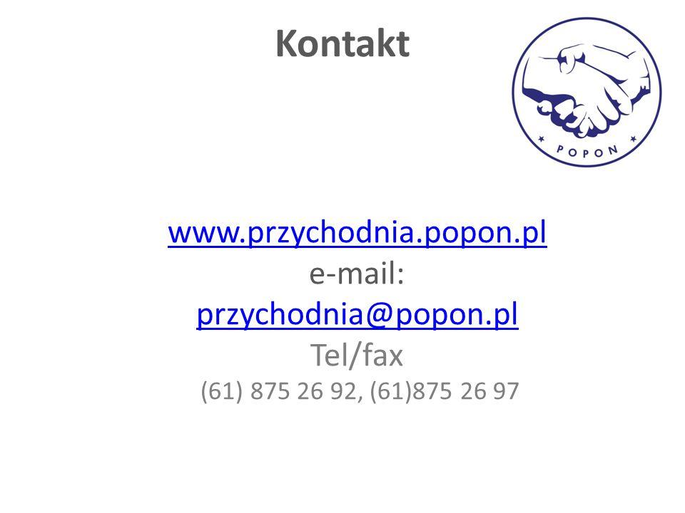 Kontakt www.przychodnia.popon.pl e-mail: przychodnia@popon.pl Tel/fax
