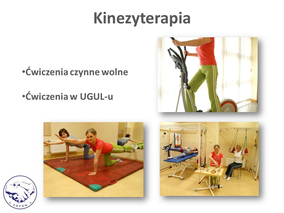 Kinezyterapia Ćwiczenia czynne wolne Ćwiczenia w UGUL-u