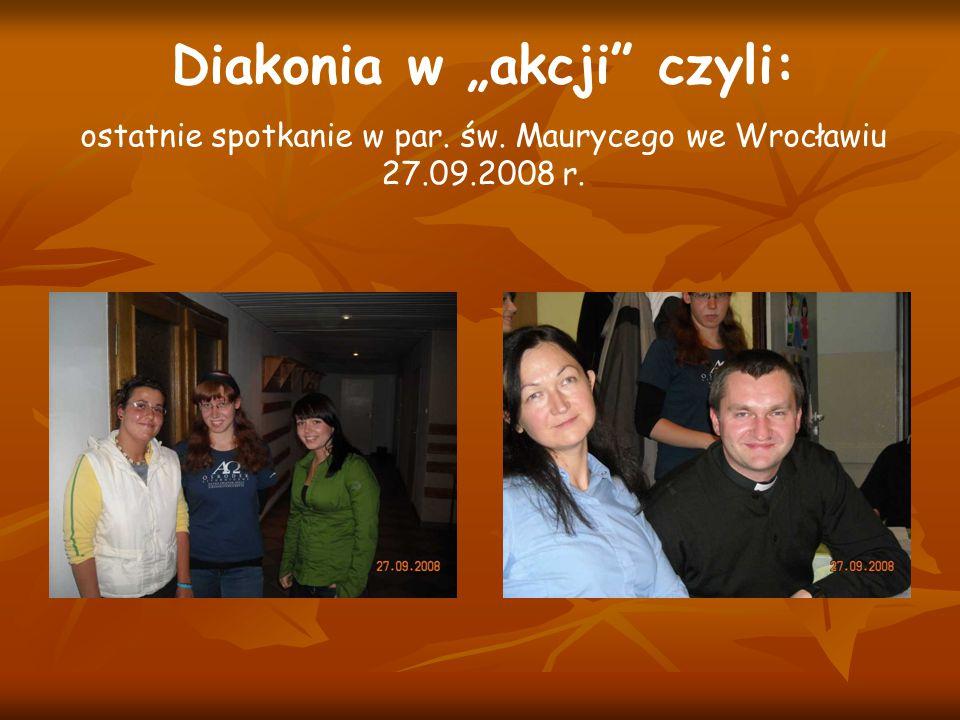 """Diakonia w """"akcji czyli:"""