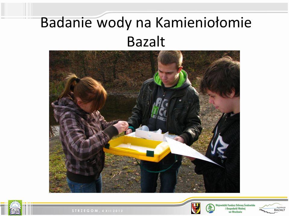 Badanie wody na Kamieniołomie Bazalt
