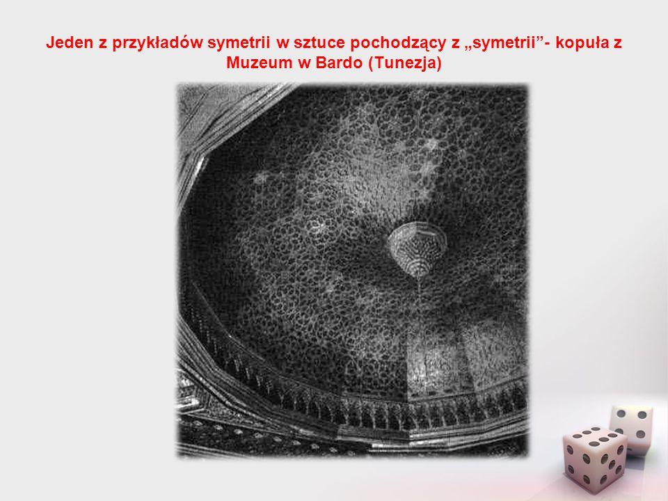 """Jeden z przykładów symetrii w sztuce pochodzący z """"symetrii - kopuła z Muzeum w Bardo (Tunezja)"""
