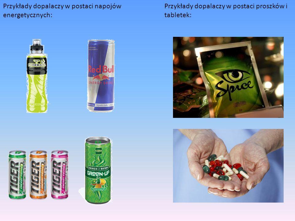 Przykłady dopalaczy w postaci napojów