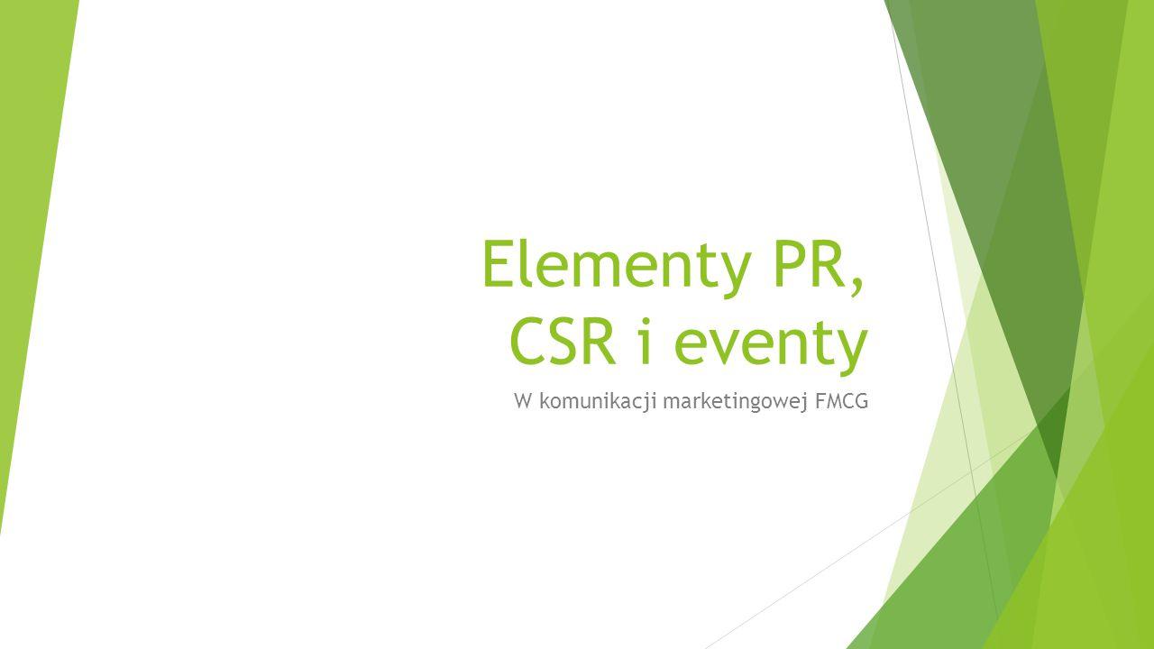 Elementy PR, CSR i eventy