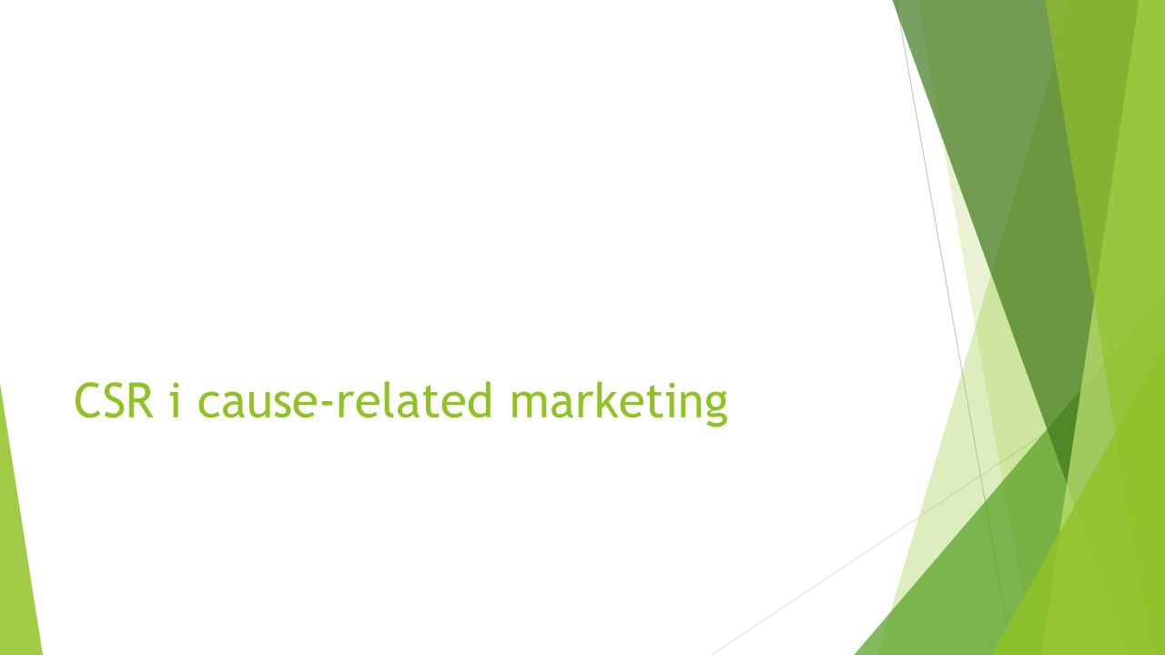 CSR i cause-related marketing