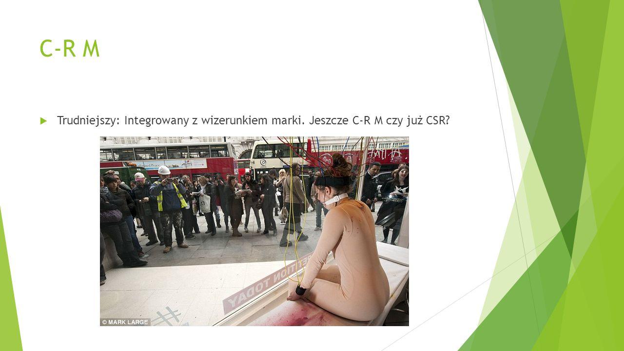 C-R M Trudniejszy: Integrowany z wizerunkiem marki. Jeszcze C-R M czy już CSR
