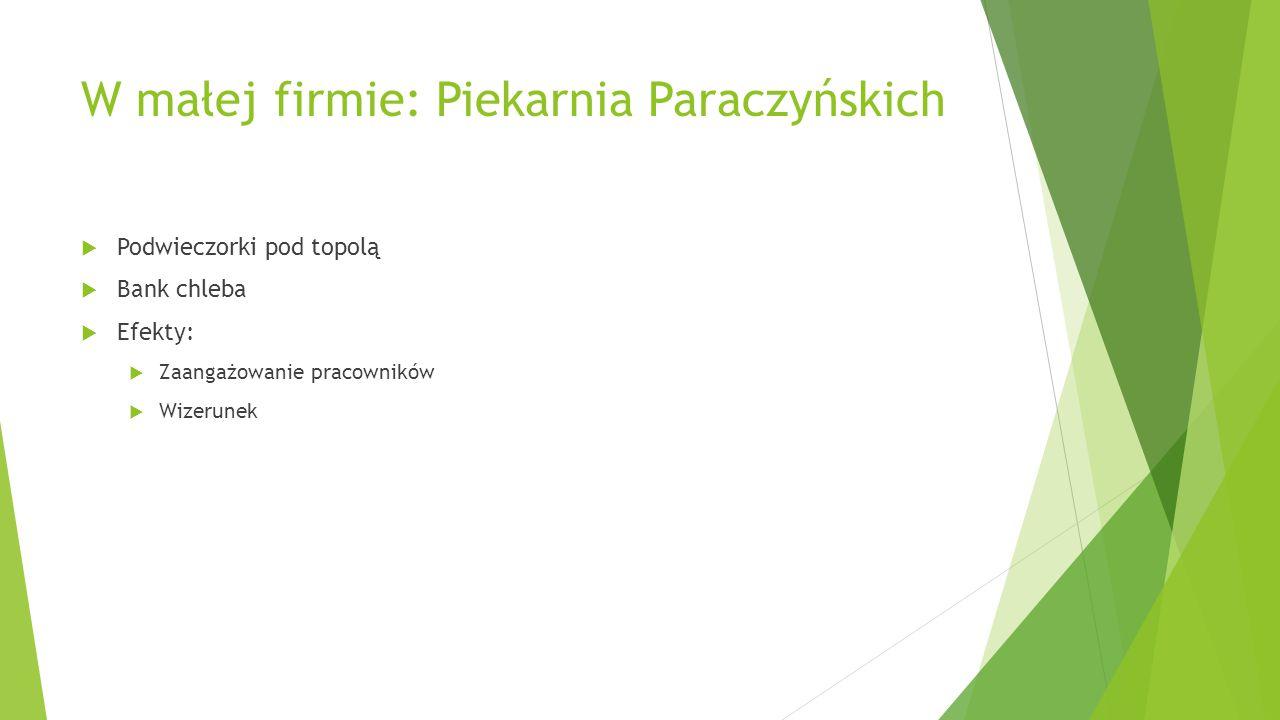 W małej firmie: Piekarnia Paraczyńskich