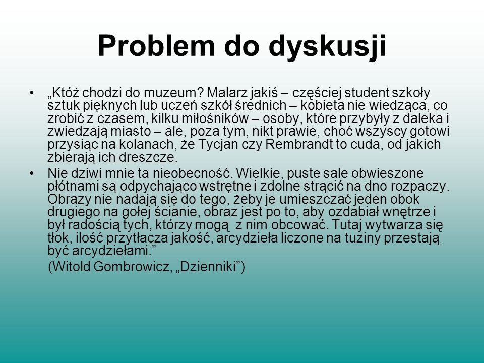 Problem do dyskusji