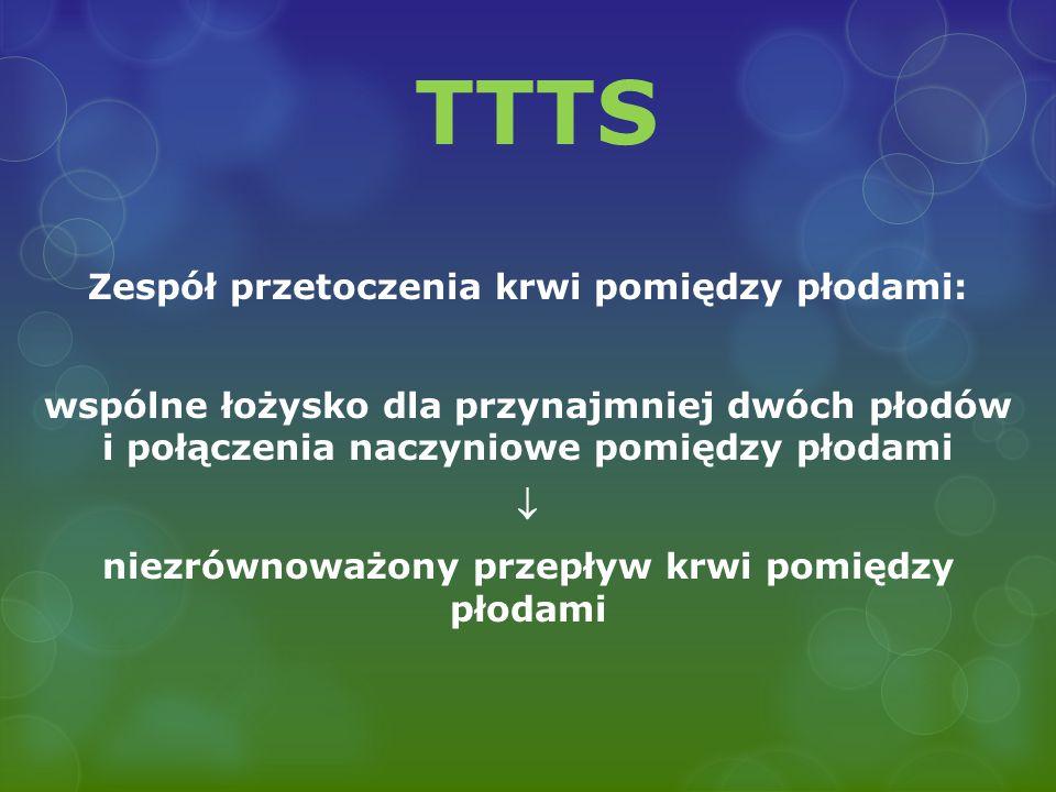 TTTS Zespół przetoczenia krwi pomiędzy płodami: