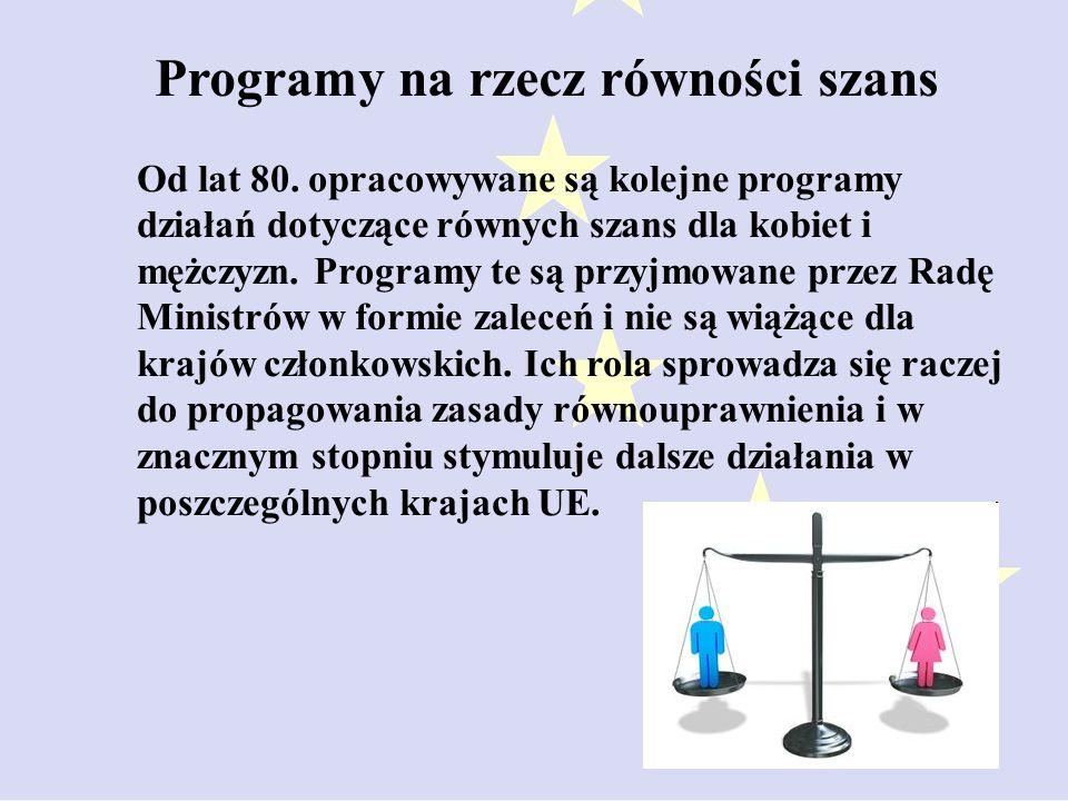 Programy na rzecz równości szans