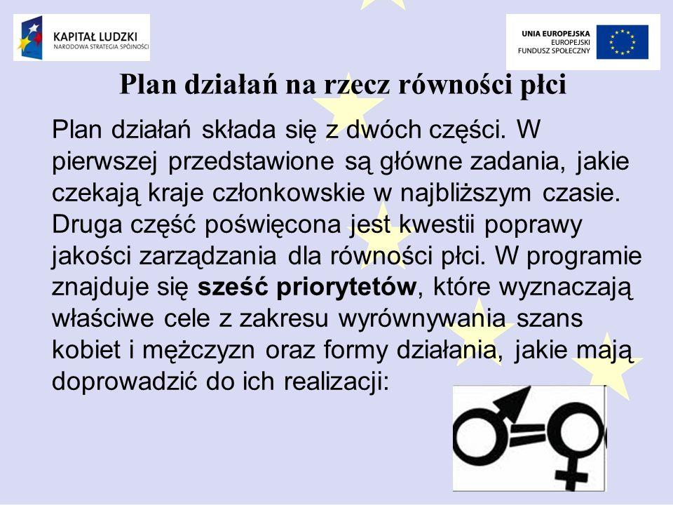 Plan działań na rzecz równości płci