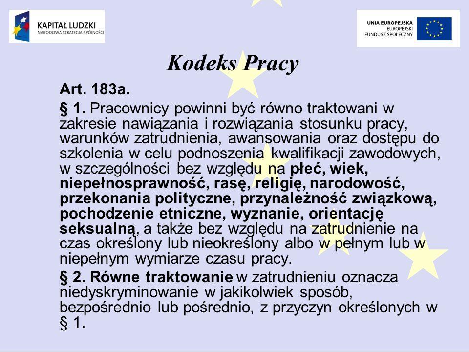 Kodeks Pracy Art. 183a.