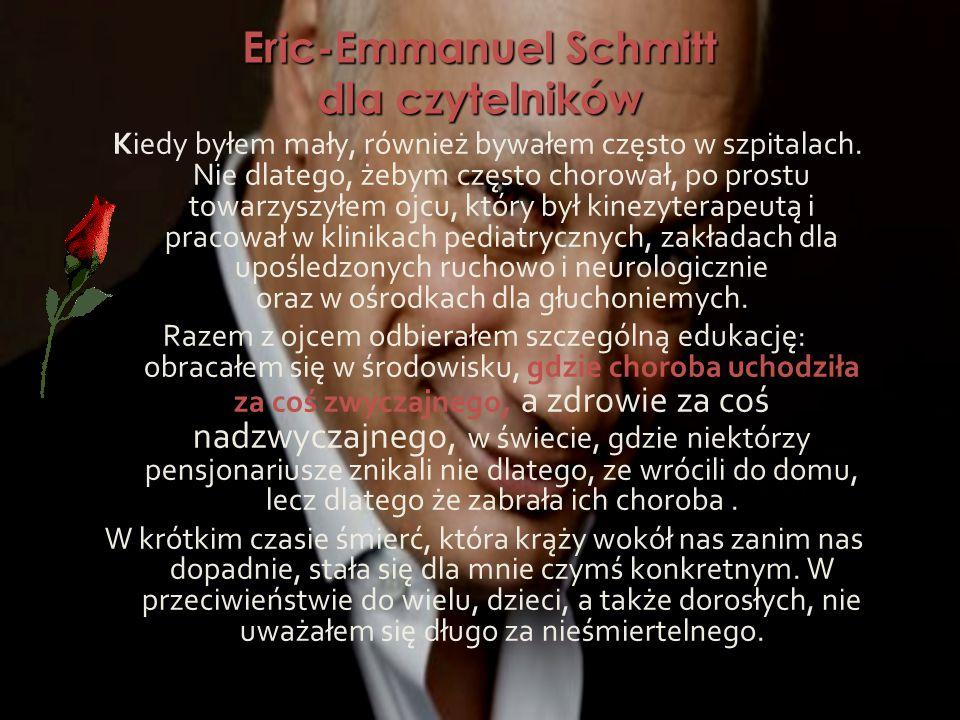 Eric-Emmanuel Schmitt dla czytelników