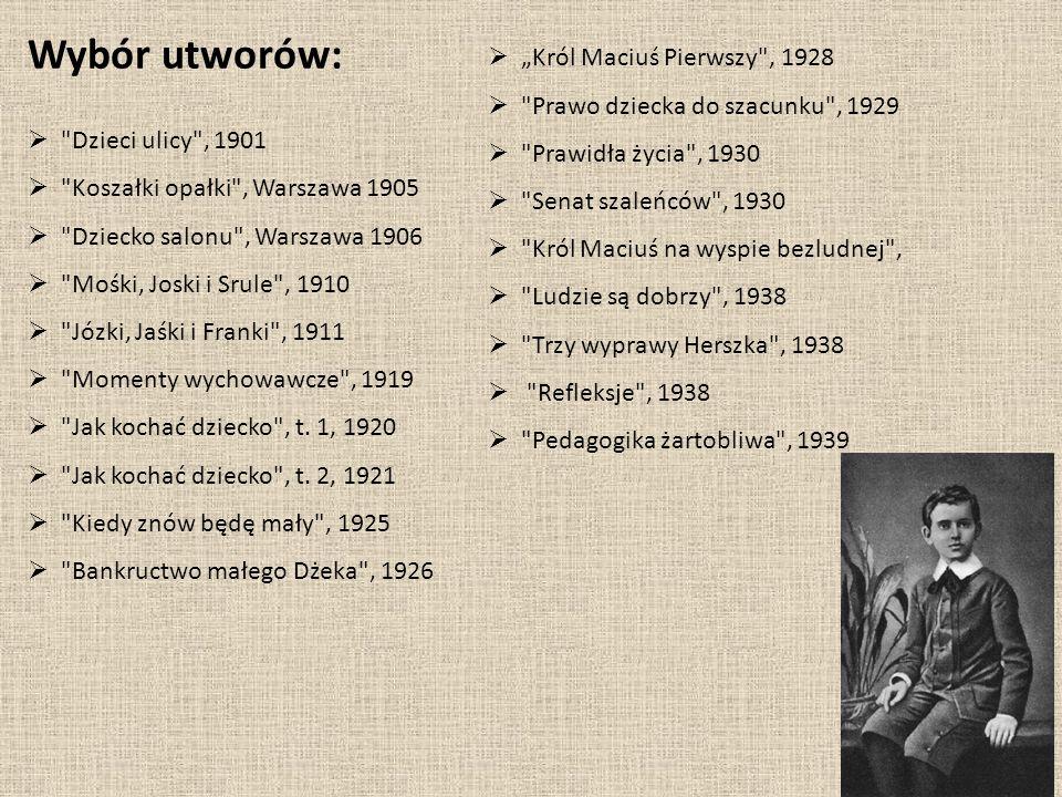 """Wybór utworów: """"Król Maciuś Pierwszy , 1928"""