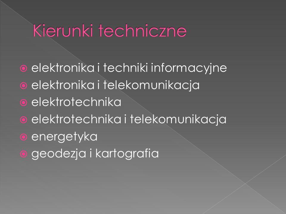 Kierunki techniczne elektronika i techniki informacyjne