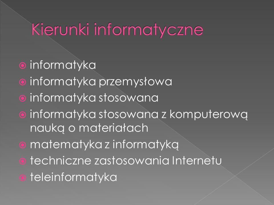Kierunki informatyczne