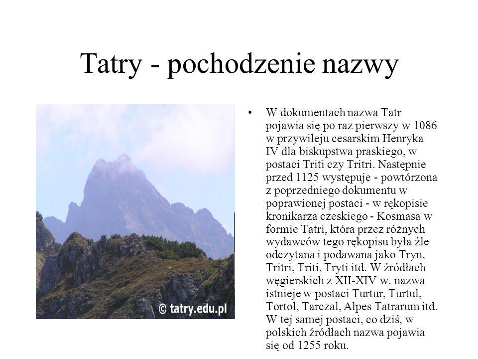 Tatry - pochodzenie nazwy