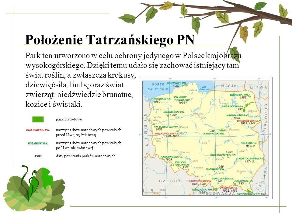 Położenie Tatrzańskiego PN