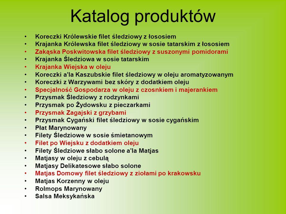 Katalog produktów Koreczki Królewskie filet śledziowy z łososiem