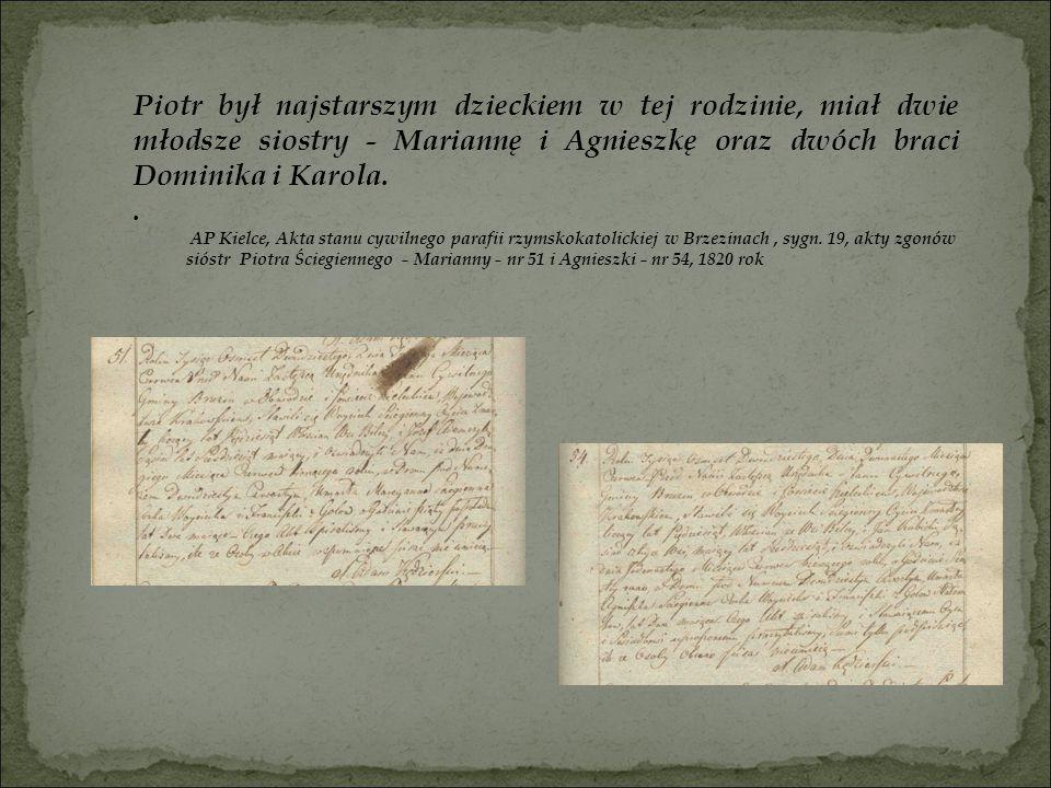 Piotr był najstarszym dzieckiem w tej rodzinie, miał dwie młodsze siostry - Mariannę i Agnieszkę oraz dwóch braci Dominika i Karola.