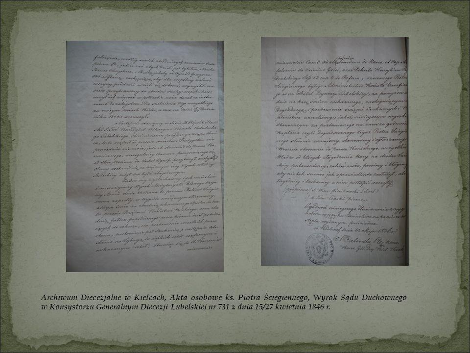 Archiwum Diecezjalne w Kielcach, Akta osobowe ks